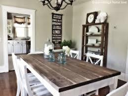 image result for white kitchen farmhouse table apartment