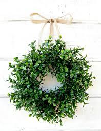 mini window wreath boxwood wreath country cottage