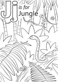 preschool jungle coloring pages letter j is for jungle coloring page free printable coloring pages