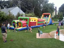 inflatable obstacle course challenge rental iowa city cr ia