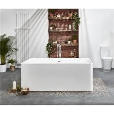 Stone Freestanding Bathtubs Frontline Aquanatural Cabanes 1700 X 800mm Square Stone Resin
