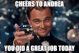 Meme Andrea - leonardo dicaprio cheers meme imgflip