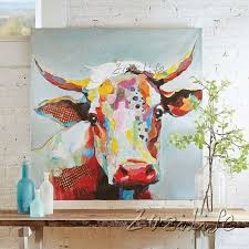 Cow Home Decor Canvas Painting Cow Acrylic Painting Wall Pictures For Living