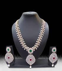 diamonds necklace images Buy multicolor american diamonds necklace sets online JPG
