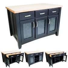 butcher block top isl01 black modern kitchen island isl07
