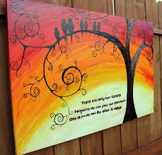 family of birds 24 by 36 abstract acrylic tree