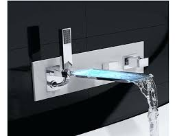 Bathroom Waterfall Faucet Wall Mounted Bathtub Faucets Ed Bath Mount Tub Spout Trim With