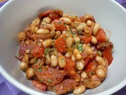 cuisiner les haricots blancs salade de haricots blancs tomates et chorizo la cuisine de nano