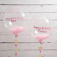 personalised birthday princess confetti filled balloon by
