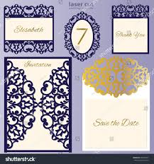 Wedding Invitation Card Template Laser Cut Wedding Invitation Card Template Stock Vector 600644267