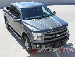 Classic Ford Truck Decals - 2015 2017 ford f 150 borderline center racing stripe w outline