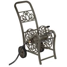 hampton bay 2 wheel hose reel cart mdhc150hb the home depot