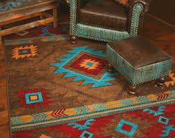 southwestern rug etsy