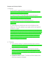 Examples Of College Compare And Contrast Essays How To Write A Good Comparison Essay Introduction