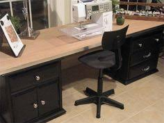 Cheap Sewing Cabinets Make A Beautiful Large Desk Or Sewing Desk From A Cheap Hollow