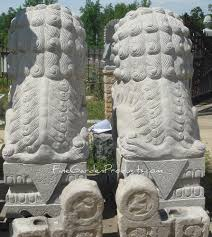 pictures of foo dogs 72 inch granite foo dog pair beijing style