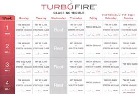 turbo fire reviews calendar and fitness guide extremely fit
