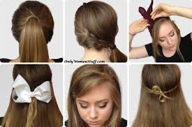 step by step hairstyles for long hair with bangs and curls 42 easy hairstyles for girls simple step by step pictures