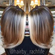 bright blonde face framing balayage highlights hair by rachel