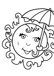 summer coloring pages sun kids seasons coloring pages