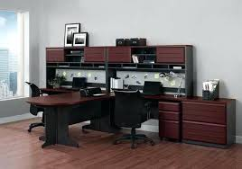 long desk for 2 double office desk two person computer workstation another option