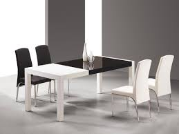 Contemporary Dining Tables by Dining Room Modern White Leather Dining Chair Design Ideas Square