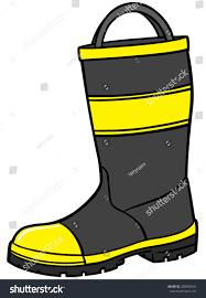 Firefighter Boots Material by Fireman Boot Stock Vector 208098544 Shutterstock