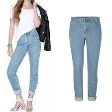 Light Blue High Waisted Jeans Yofeai 2017 Women S Plus Size High Waist Washed Light Blue True