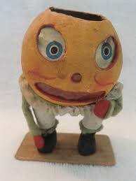 Vintage Halloween Decorations Rare Early German Humpty Dumpty Full Figure Composition U0026 Papier
