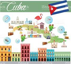Map Cuba Cartoon Map Of Cuba Stock Vector Art 639507450 Istock