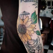 100 traditional sunflower tattoo scottish thistles tattoos