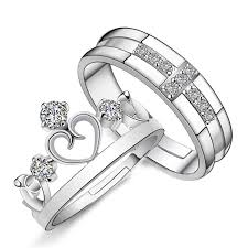 couples rings online images One pair 925 silver rings couples ring set on storenvy jpg