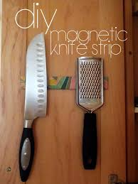 magnetic strips for kitchen knives easy diy magnetic knife strip turning it home