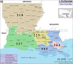 us area code louisiana area codes map of louisiana area codes