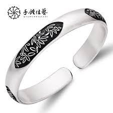 thousand hammer jiayi handmade silver bracelet