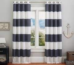 Kid Blackout Curtains Hayden Rugby Blackout Panel Pottery Barn Kids