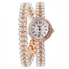 pearl bracelet watches images Watches luxury pearls bracelet watch for women 39 s girls weetmart jpg
