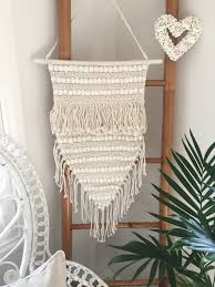 macrame shell boho wall hanging tropical interiors tropical interiors tropical tribal coastal boho home decor accessories