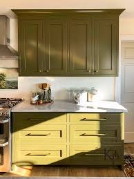 paint kitchen cabinets green olive green kitchen cabinets painted by payne