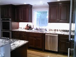 cherry mahogany kitchen cabinets mahogany stained cherry with delicartus granite traditional