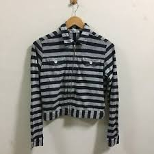 robe de chambre comme des garcons robe de chambre comme des garcons s striped shirt blue size