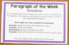 paragraph of the week improve student writing one stop teacher shop