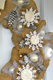 elegant burlap and snowflake wreath burlap wreaths and doors