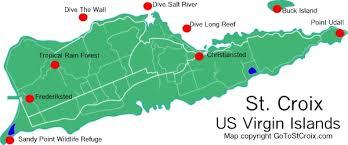 st croix caribbean map map of st croix usvi major tourist attractions maps