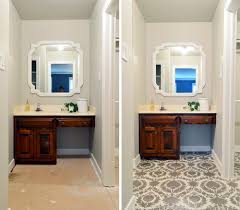 Bathroom Updates Before And After How To Stencil A Floor Young House Love