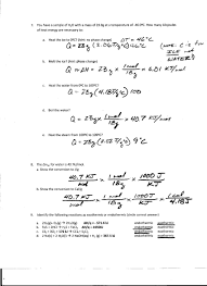 Chemistry Review Worksheet Answers Foothill High