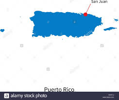 Puerto Rico Blank Map by Vector Map Of Puerto Rico And Capital City San Juan Stock Vector