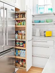a pull out pantry is a great use of space fantastic location