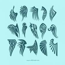 wings tattoos vector free