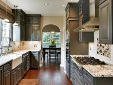 Gray Kitchen Cabinets Cabinets Com - black kitchen cabinets pictures ideas u0026 tips from hgtv hgtv